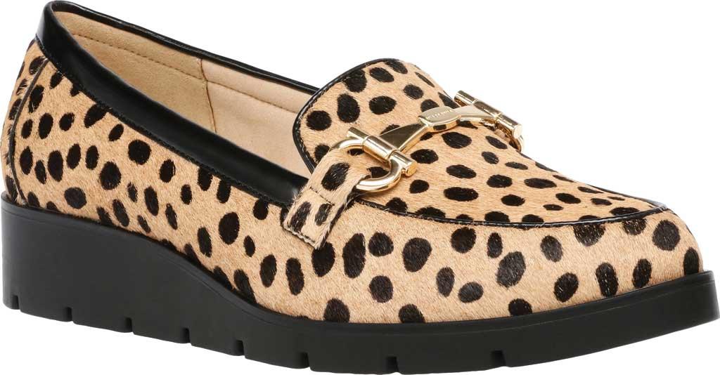 Women's Anne Klein Lalita Hair Calf Loafer, Dot Leopard Hair Calf, large, image 1