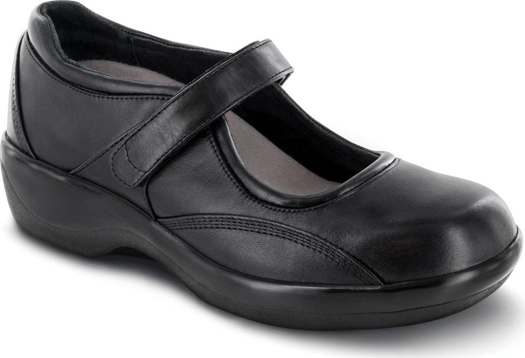Women's Apex Ambulator Biomechanical Mary Jane, Black Smooth Leather, large, image 1