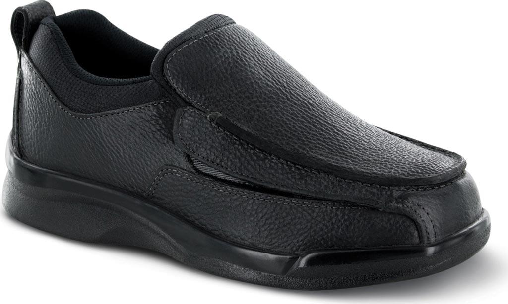 Men's Apex Ambulator Flip Open Moc, Black Leather, large, image 1