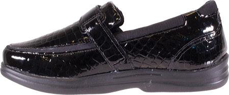 Women's Apex Evelyn Strap Loafer, Black Patent Croc, large, image 3