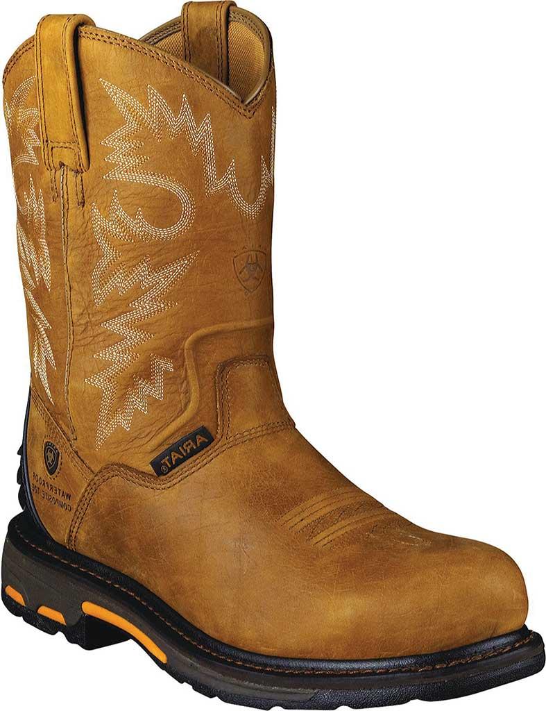Men's Ariat Workhog RT H20 Composite Toe, Rugged Bark Full Grain Leather, large, image 1