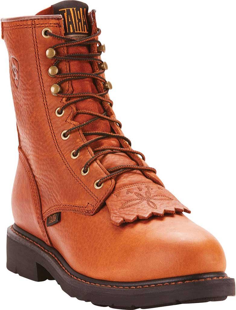 "Men's Ariat Cascade 8"" Steel Toe Boot, Sunshine Wildcat Full Grain Leather, large, image 1"