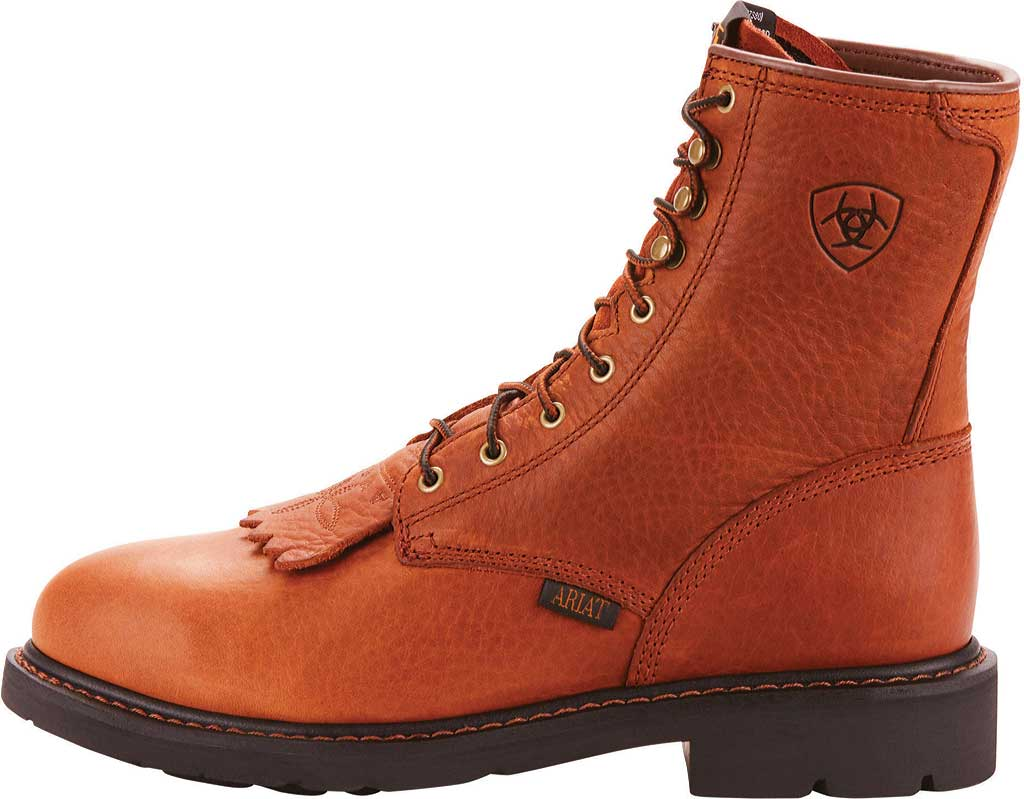 "Men's Ariat Cascade 8"" Steel Toe Boot, Sunshine Wildcat Full Grain Leather, large, image 2"