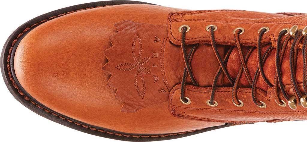 "Men's Ariat Cascade 8"" Steel Toe Boot, Sunshine Wildcat Full Grain Leather, large, image 4"