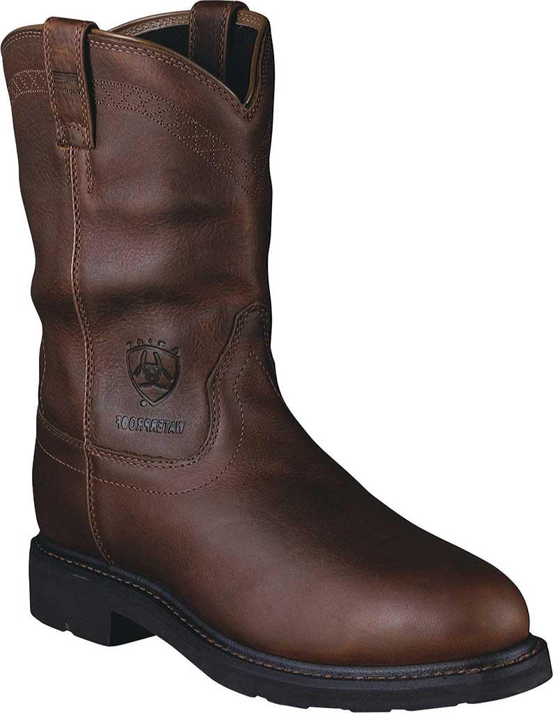 Men's Ariat Sierra H2O Steel Toe, Sunshine Waterproof Full Grain Leather, large, image 1