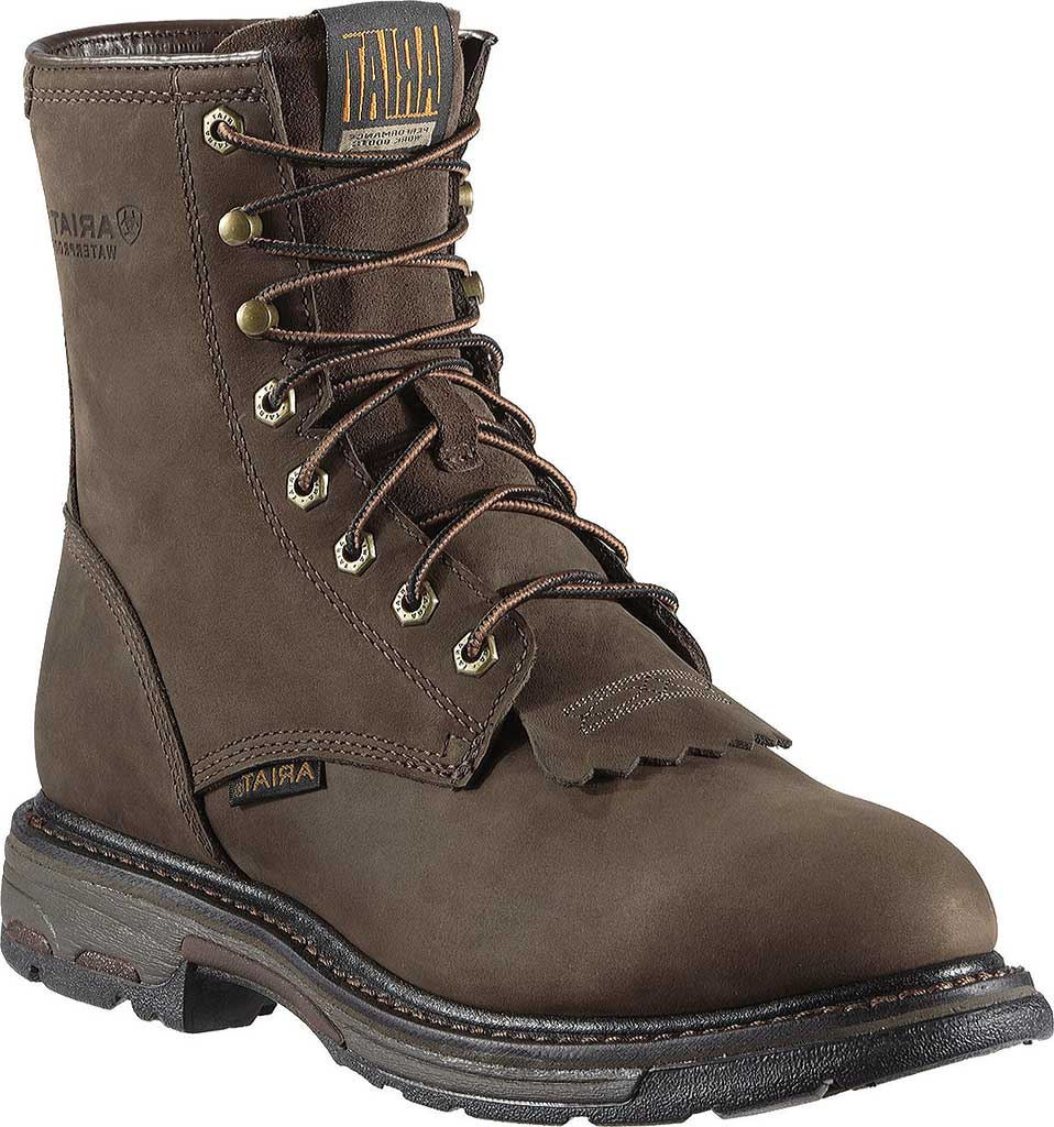 """Men's Ariat Workhog 8"""" H2O, Oily Distressed Brown Full Grain Leather, large, image 1"""