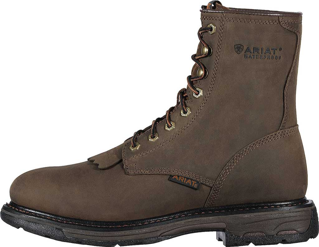 """Men's Ariat Workhog 8"""" H2O, Oily Distressed Brown Full Grain Leather, large, image 2"""