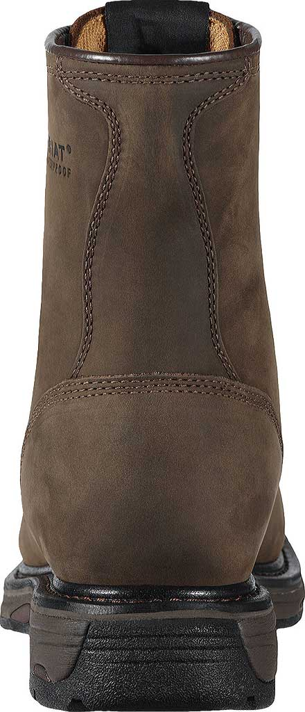 """Men's Ariat Workhog 8"""" H2O, Oily Distressed Brown Full Grain Leather, large, image 4"""