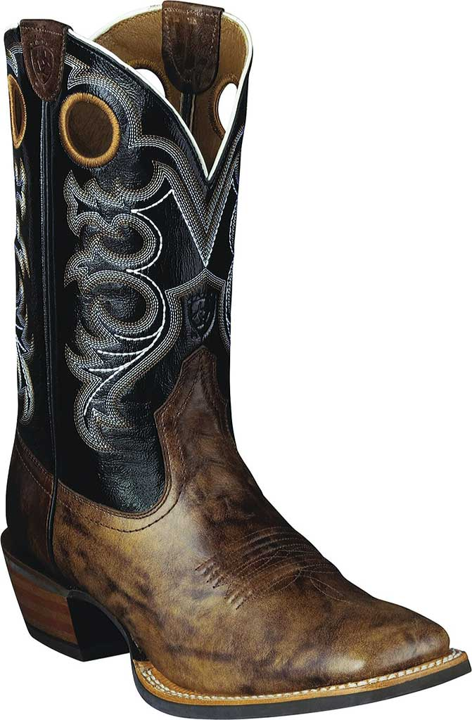 Men's Ariat Crossfire, Weathered Brown/Shadow Black Full Grain leather, large, image 1