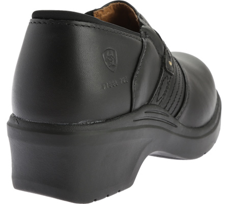 Women's Ariat Safety Clog, Black Full Grain Leather, large, image 4