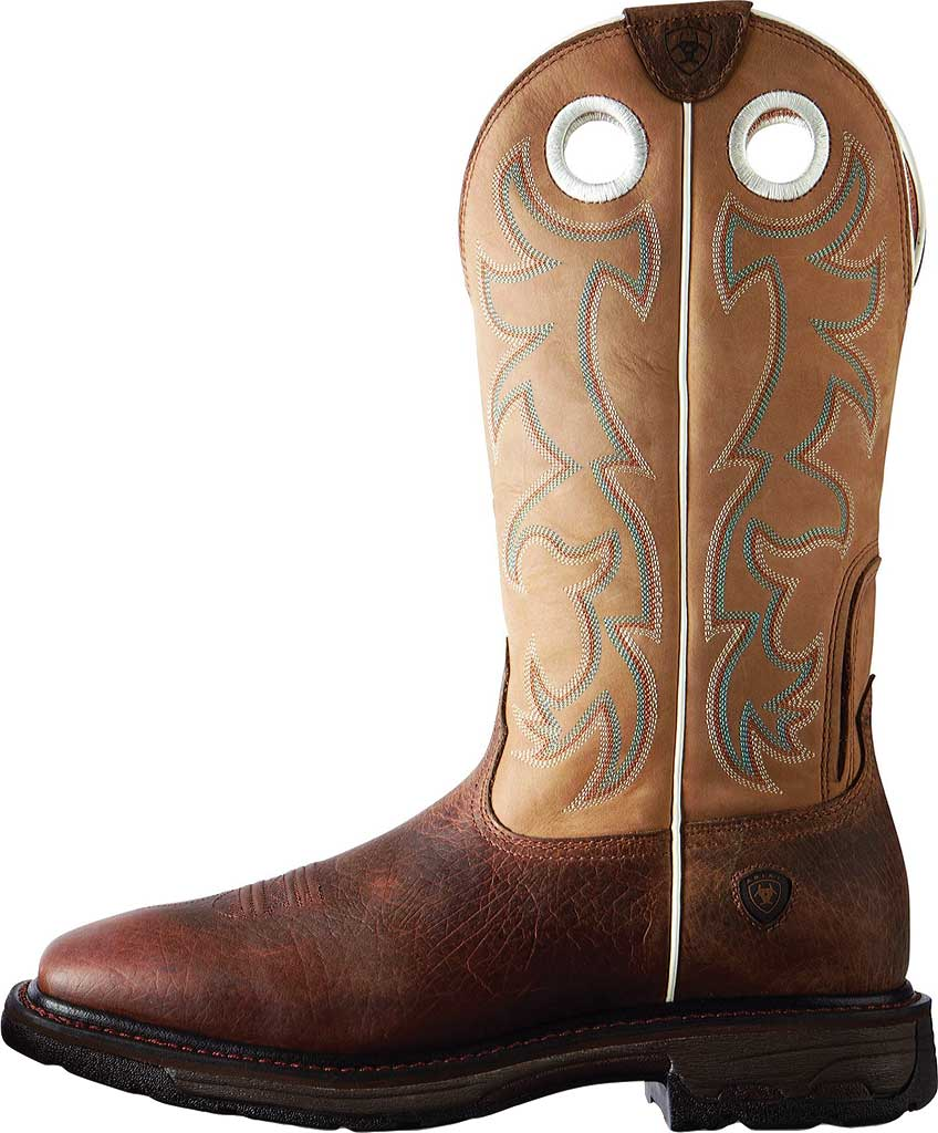 Men's Ariat Workhog Wide Steel Square Toe Tall Boot, Earth/Beige Full Grain Leather, large, image 2
