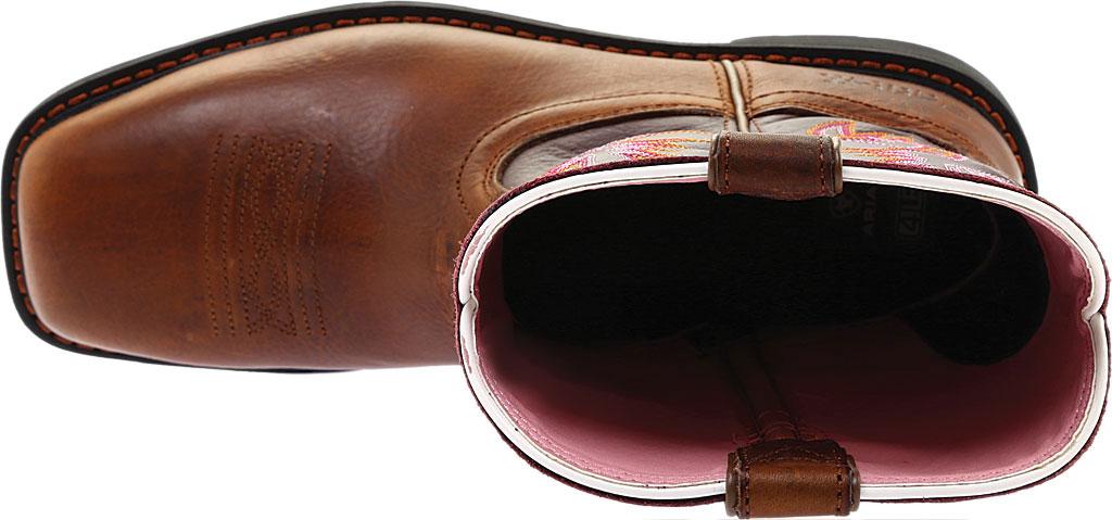 Women's Ariat Krista Pull On Steel Toe, Dark Tan/Fig Full Grain Leather, large, image 5