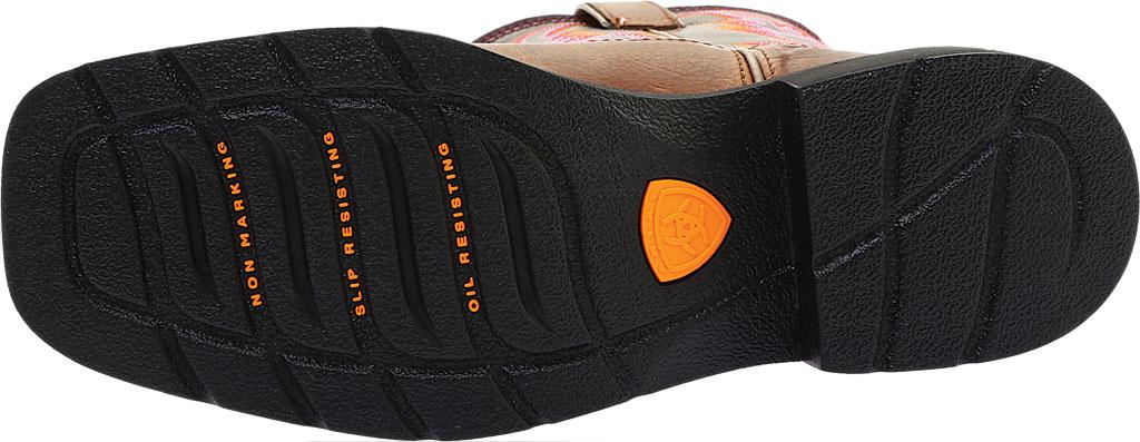 Women's Ariat Krista Pull On Steel Toe, Dark Tan/Fig Full Grain Leather, large, image 6