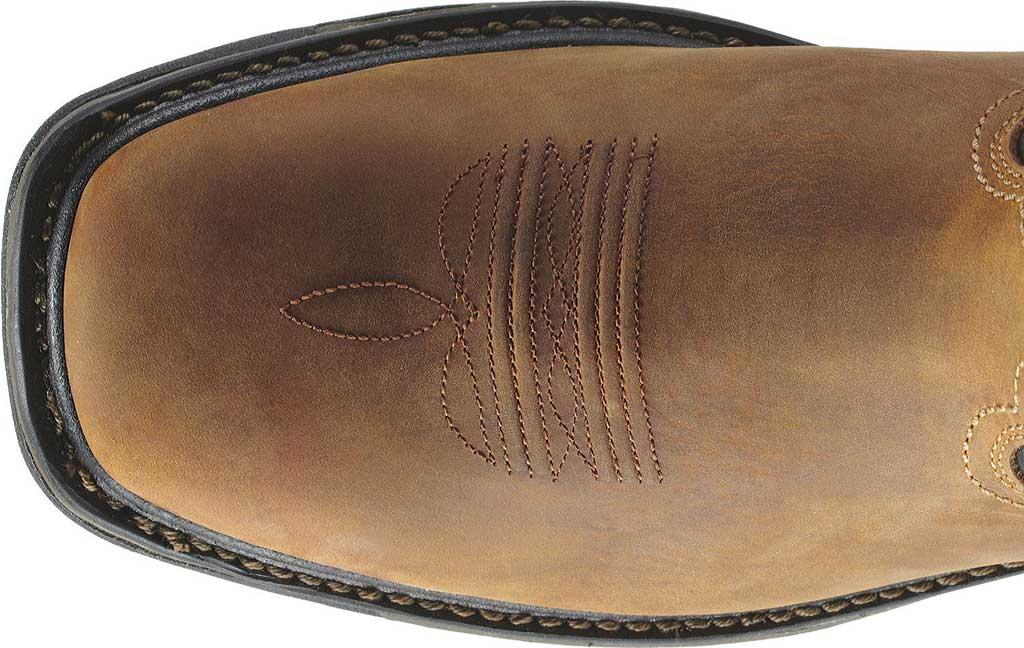 Men's Ariat Workhog Wide Square Steel Toe H2O, Aged Bark/Black Full Grain Leather, large, image 3