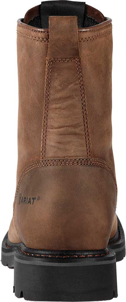 """Men's Ariat Cascade 8"""" Wide Square Steel Toe Boot, Alamo Brown Full Grain Leather, large, image 4"""