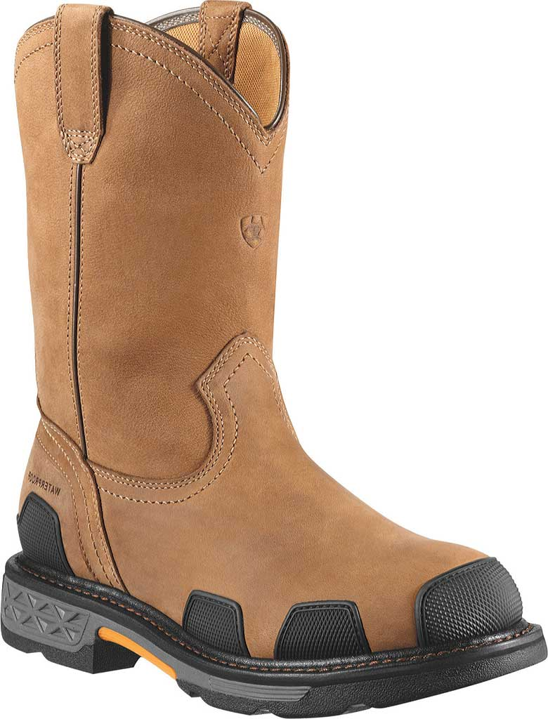 Men's Ariat OverDrive Pull-On H2O Composite Toe Boot, Dusted Brown Leather, large, image 1