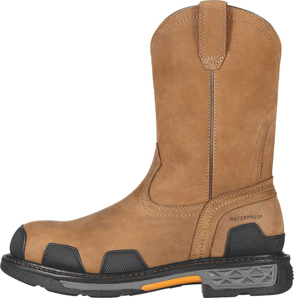 Men's Ariat OverDrive Pull-On H2O Composite Toe Boot, Dusted Brown Leather, large, image 2