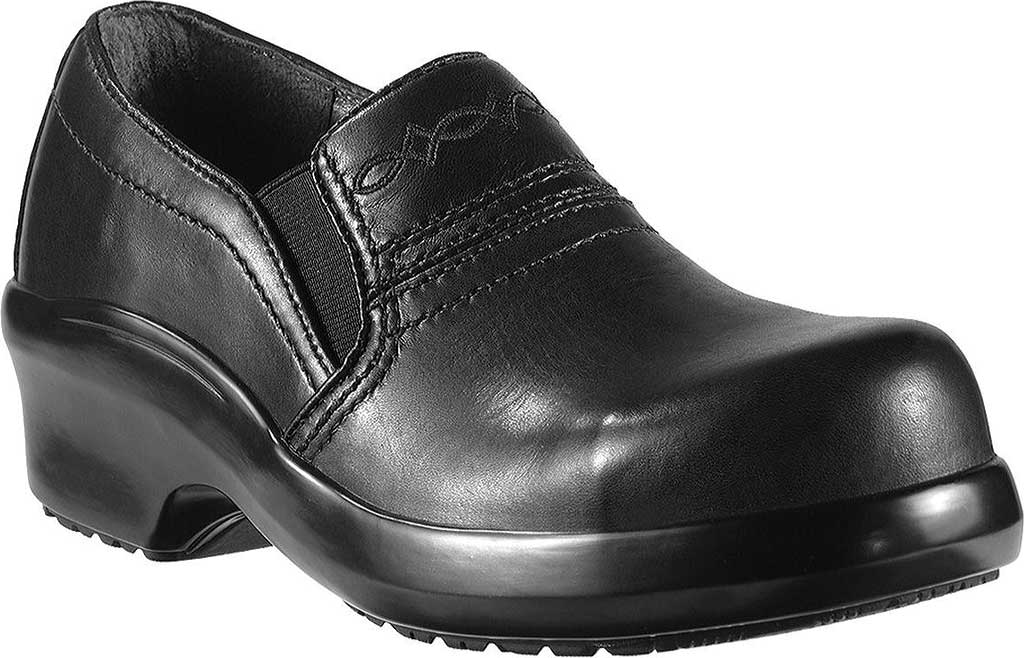 Women's Ariat Expert Safety Clog, Black Full Grain Leather, large, image 1