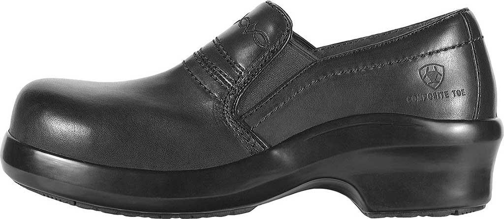 Women's Ariat Expert Safety Clog, Black Full Grain Leather, large, image 2