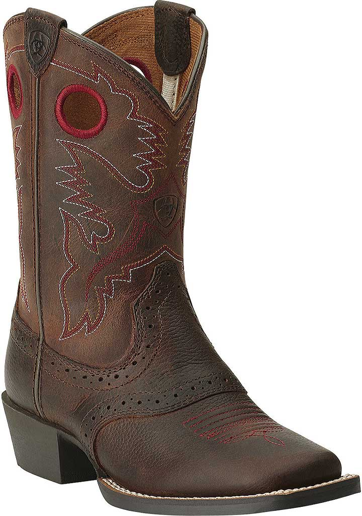 Infant Ariat Roughstock, Brown Oiled Rowdy Full Grain Leather, large, image 1