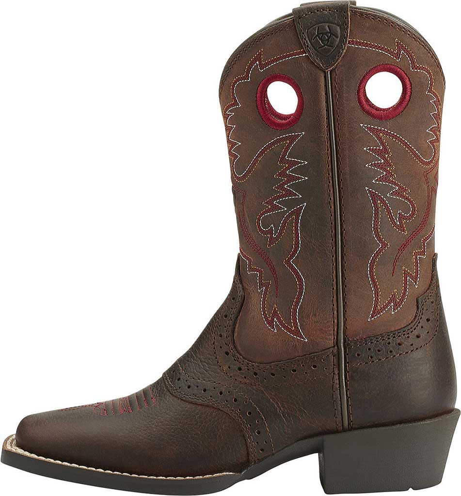 Infant Ariat Roughstock, Brown Oiled Rowdy Full Grain Leather, large, image 2