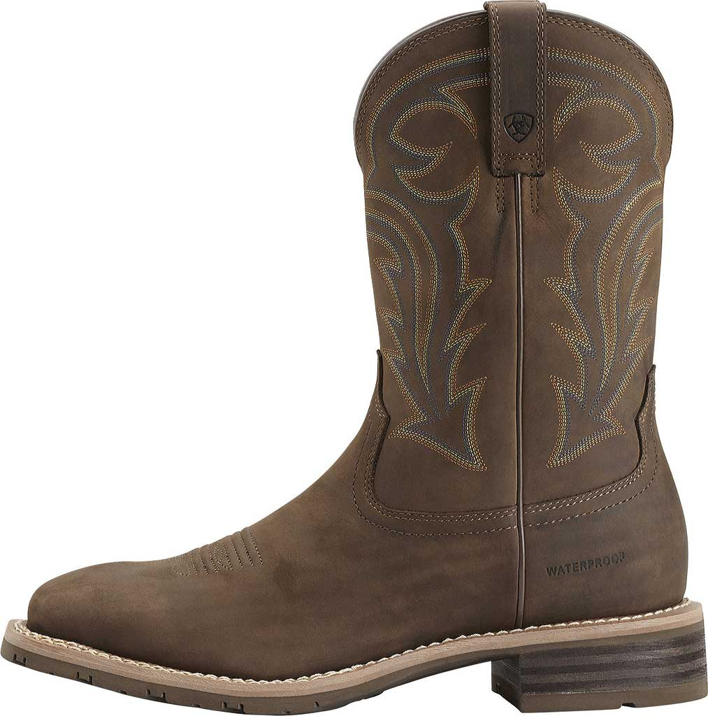 Men's Ariat Hybrid Rancher H2O, Oily Distressed Brown Full Grain Leather, large, image 2
