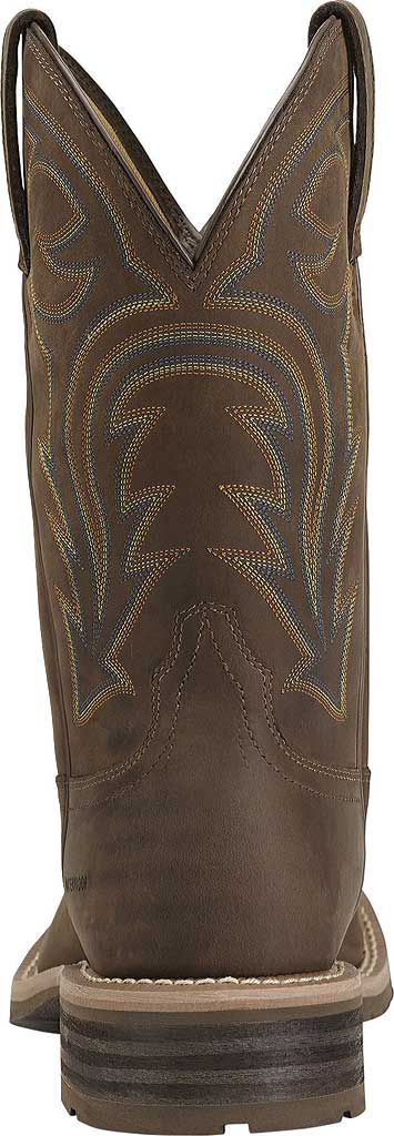 Men's Ariat Hybrid Rancher H2O, Oily Distressed Brown Full Grain Leather, large, image 3