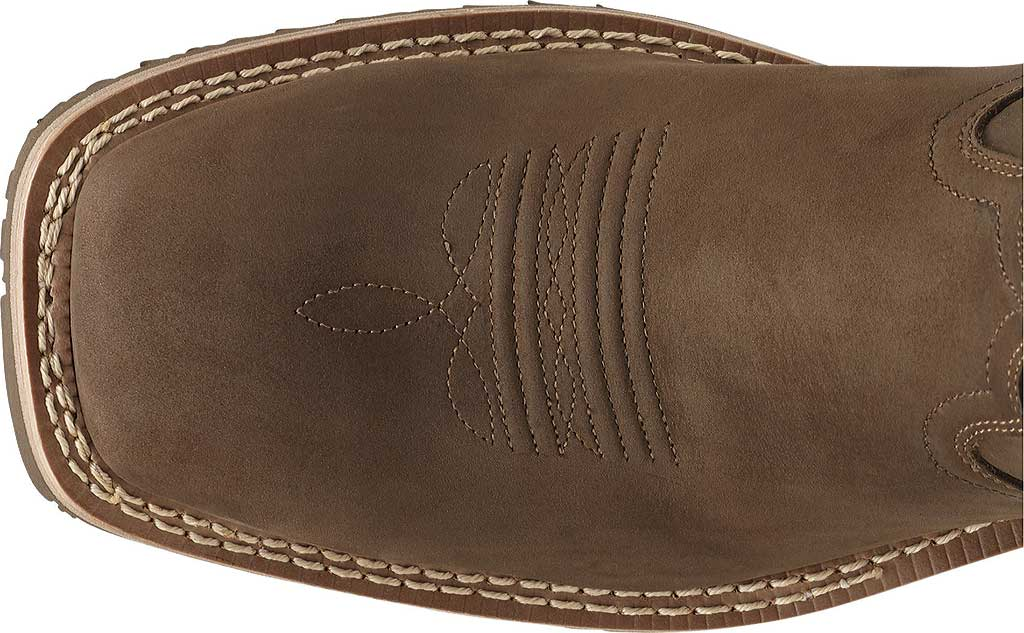 Men's Ariat Hybrid Rancher H2O, Oily Distressed Brown Full Grain Leather, large, image 4