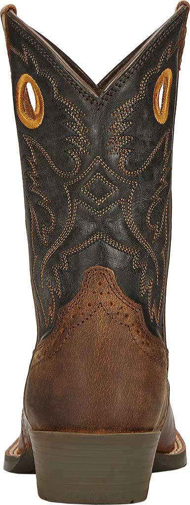 Boys' Ariat Roughstock, Distressed Brown/Black Full Grain Leather, large, image 3