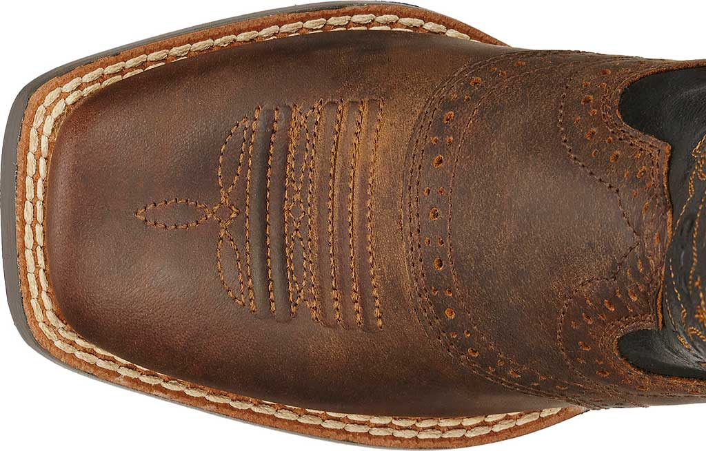 Boys' Ariat Roughstock, Distressed Brown/Black Full Grain Leather, large, image 4