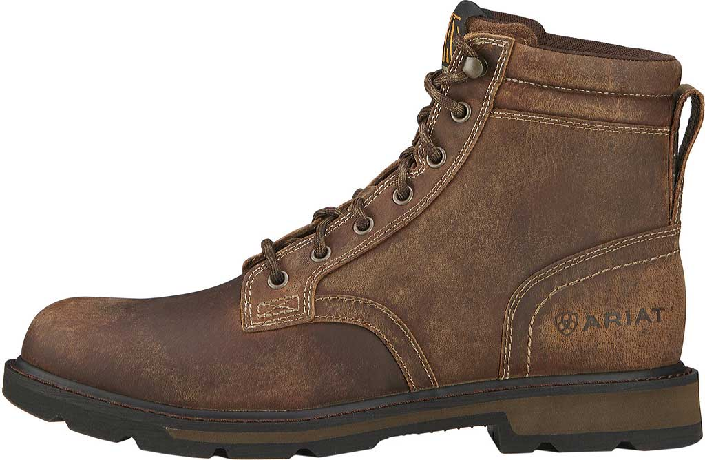 """Men's Ariat Groundbreaker 6"""" Ankle Boot, Brown Leather, large, image 2"""