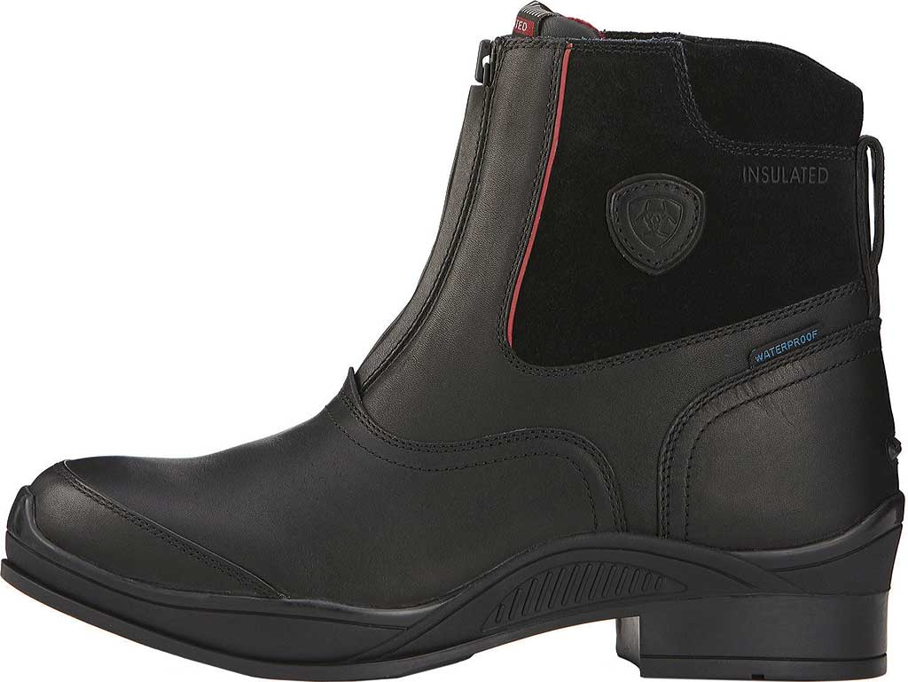 Men's Ariat Extreme Zip Paddock H2O Insulated Boot, Black Full Grain Leather/Suede, large, image 2