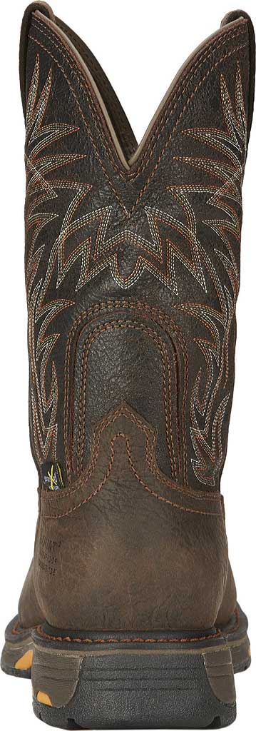 Men's Ariat Workhog Wide Square CT Met Guard H2O Boot, Bruin Brown/Crazy Black Full Grain Leather, large, image 3