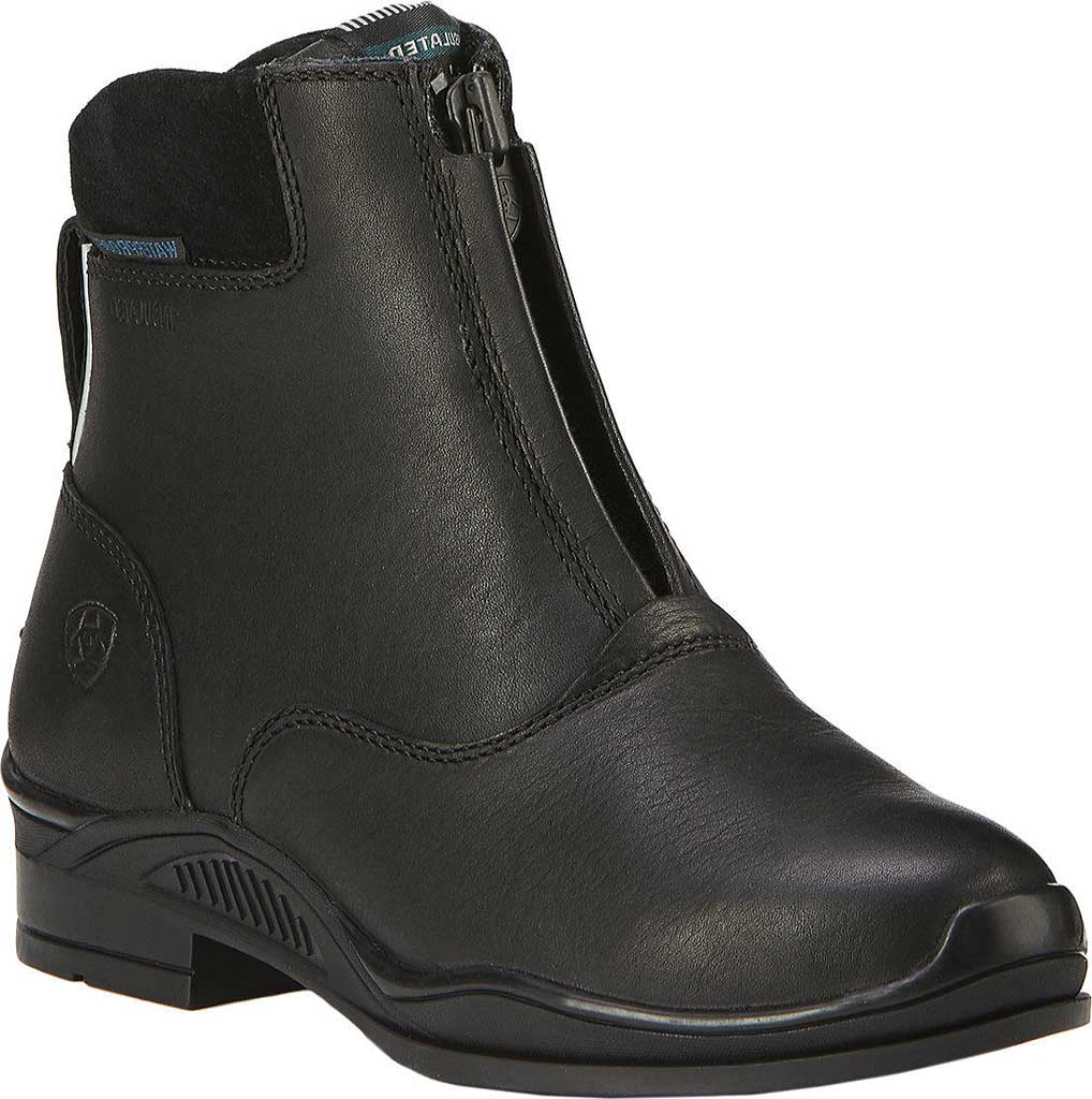 Children's Ariat Extreme Zip Paddock H2O Insulated Boot, Black Full Grain Leather, large, image 1