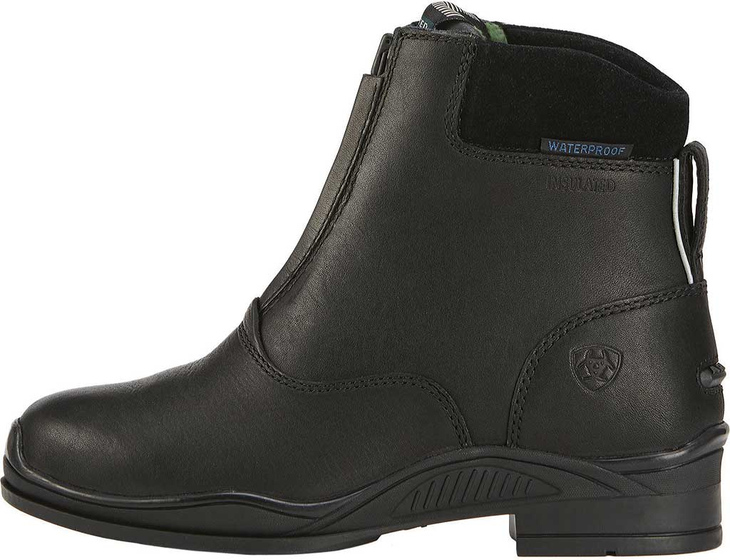 Children's Ariat Extreme Zip Paddock H2O Insulated Boot, Black Full Grain Leather, large, image 2