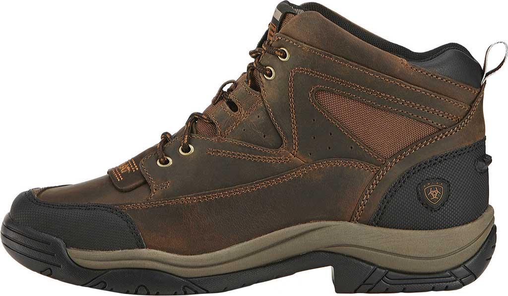 Men's Ariat Terrain Wide Square Toe Boot, Distressed Brown Full Grain Leather, large, image 2