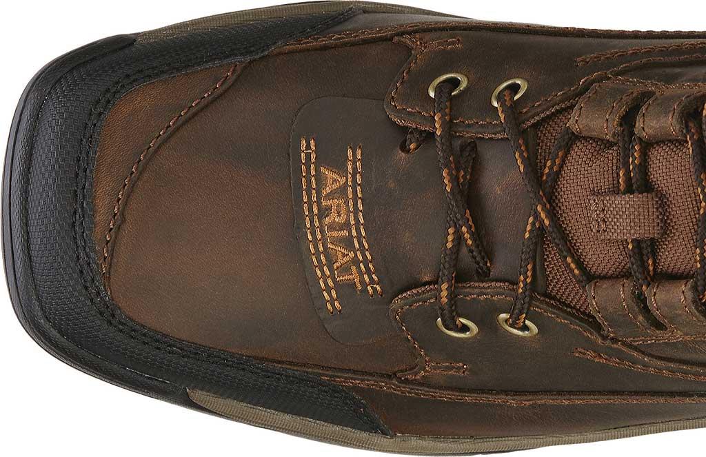 Men's Ariat Terrain Wide Square Toe Boot, Distressed Brown Full Grain Leather, large, image 4