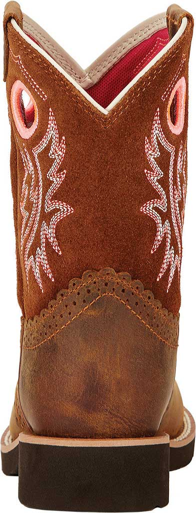 Children's Ariat Fatbaby Cowgirl, Powder/Western Brown Full Grain Leather/Suede, large, image 3