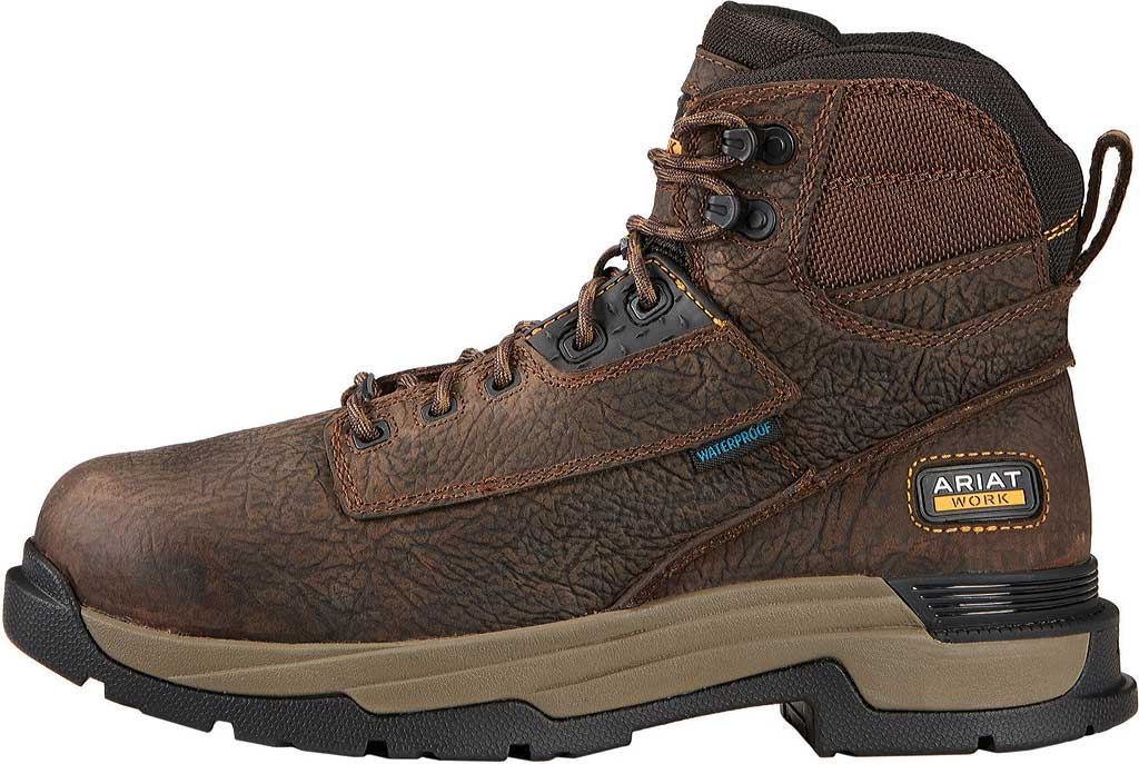 "Men's Ariat Mastergrip 6"" H2O Composite Toe Metguard Work Boot, Bruin Brown Full Grain Leather, large, image 2"