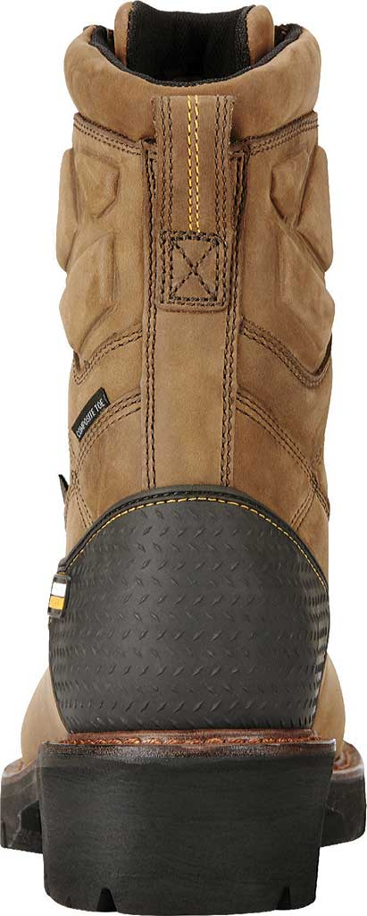 """Men's Ariat Powerline 8"""" H2O 400G Composite Toe Boot, Oily Distressed Brown Waterproof Leather, large, image 4"""