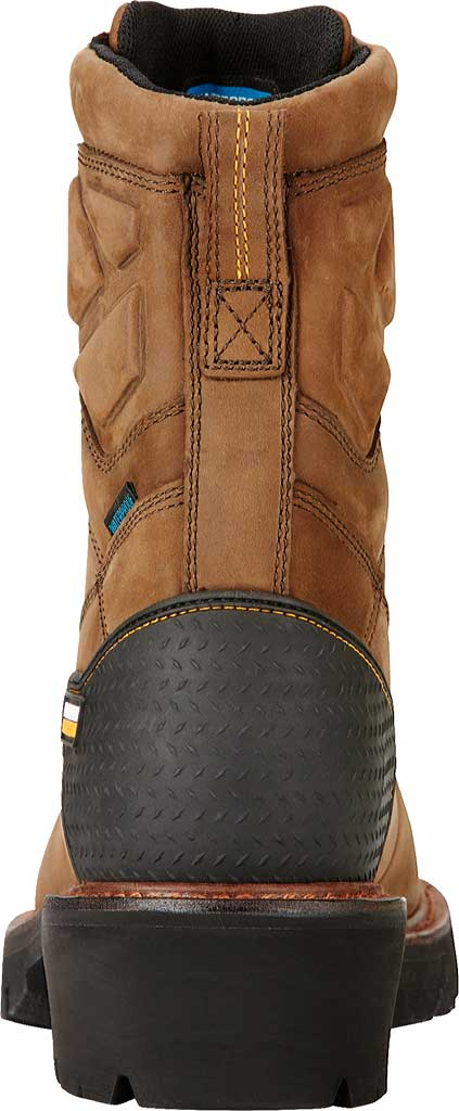 """Men's Ariat Powerline 8"""" H2O Logger Boot, Oily Distressed Brown Leather, large, image 4"""