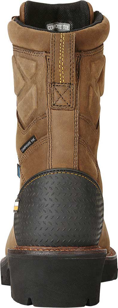 """Men's Ariat Powerline 8"""" H2O Composite Toe Boot, Oily Distressed Brown Waterproof Leather, large, image 4"""