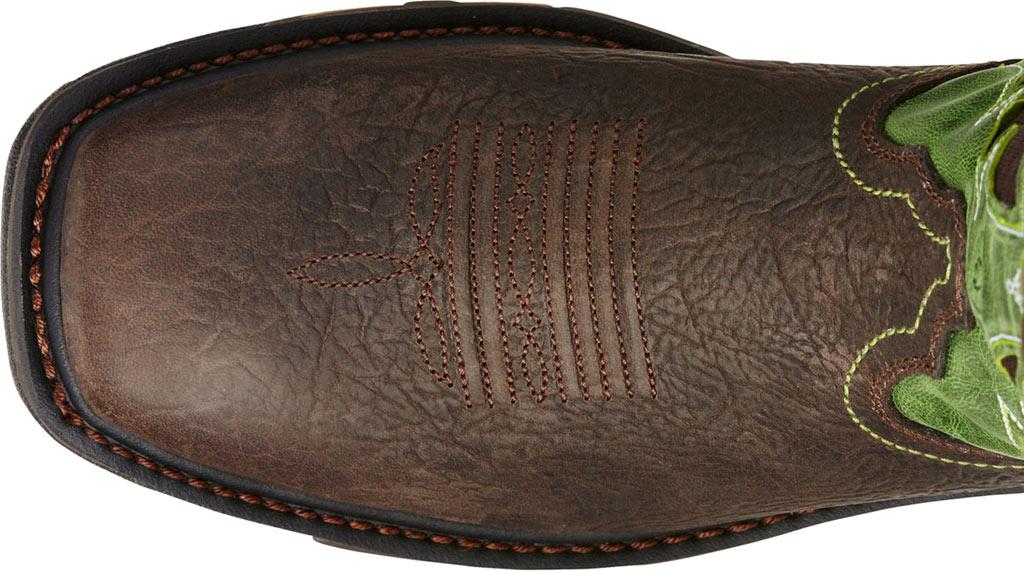 Men's Ariat Workhog Wide Square Toe VentTEK Boot, Bruin Brown/Grass Green Full Grain Leather, large, image 4