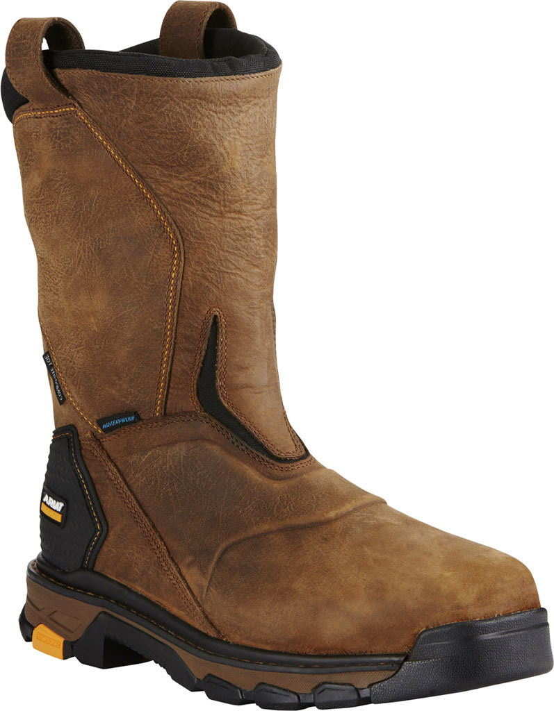 Men's Ariat Intrepid Pull-On H2O Composite Toe Boot, Rye Brown Full Grain Leather, large, image 1