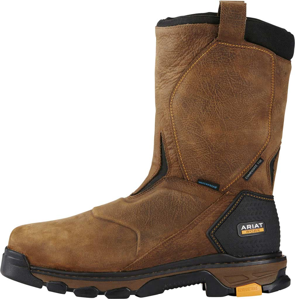 Men's Ariat Intrepid Pull-On H2O Composite Toe Boot, Rye Brown Full Grain Leather, large, image 2