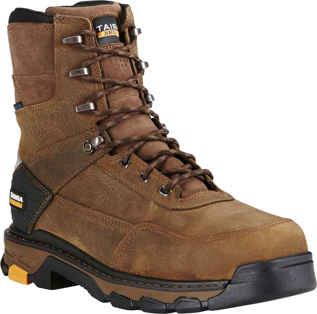"Men's Ariat Intrepid 8"" H2O Composite Toe Boot, Rye Brown Waterproof Full Grain Leather, large, image 1"
