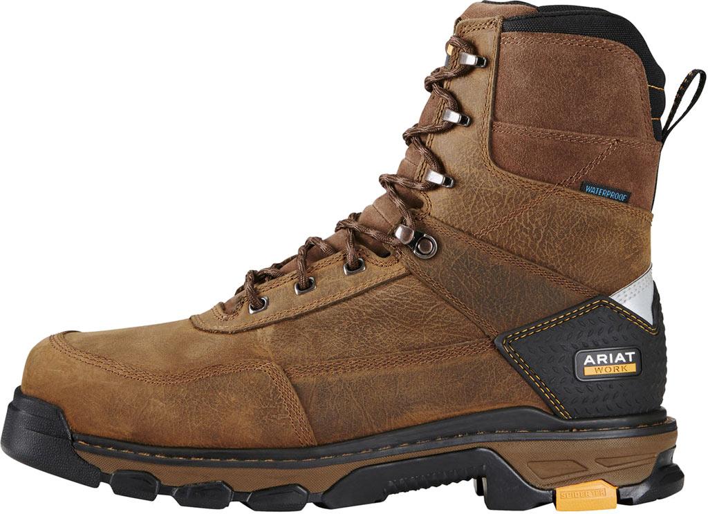 "Men's Ariat Intrepid 8"" H2O Composite Toe Boot, Rye Brown Waterproof Full Grain Leather, large, image 2"