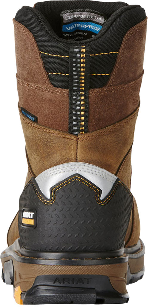"Men's Ariat Intrepid 8"" H2O Composite Toe Boot, Rye Brown Waterproof Full Grain Leather, large, image 3"