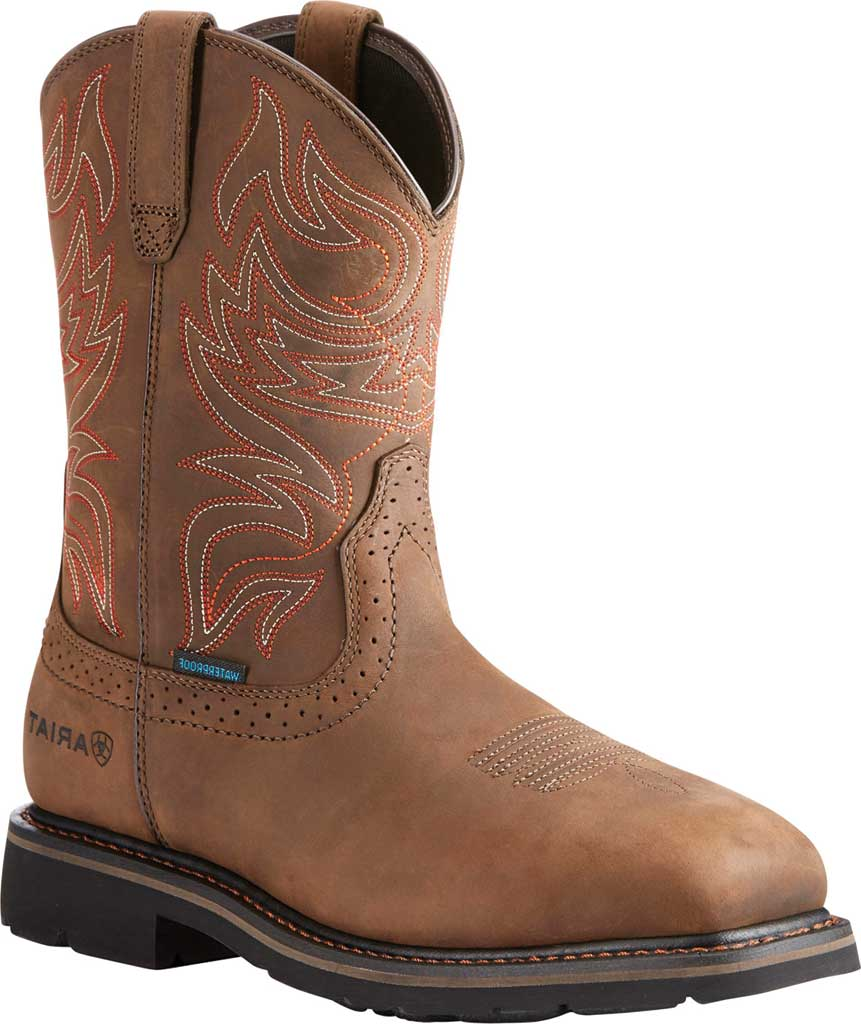 Men's Ariat Sierra Delta H2O Cowboy Boot, Oily Distressed Brown Leather, large, image 1
