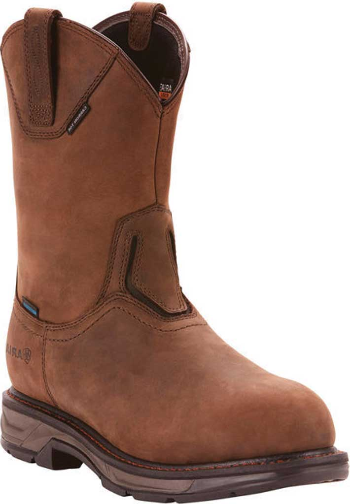 Men's Ariat WorkHog XT Wellington H2O Carbon Toe Cowboy Boot, Oily Distressed Brown Full Grain Leather, large, image 1